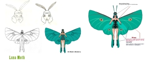 Luna Moth - Kavalier & Clay's primary female character. Joe came up with her largely on his own after meeting Rosa Saks.