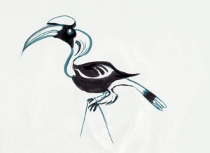 For my pal Phil's project, I got to draw hornbills for a couple hours. Good practice. I gotta get back to the zoo...